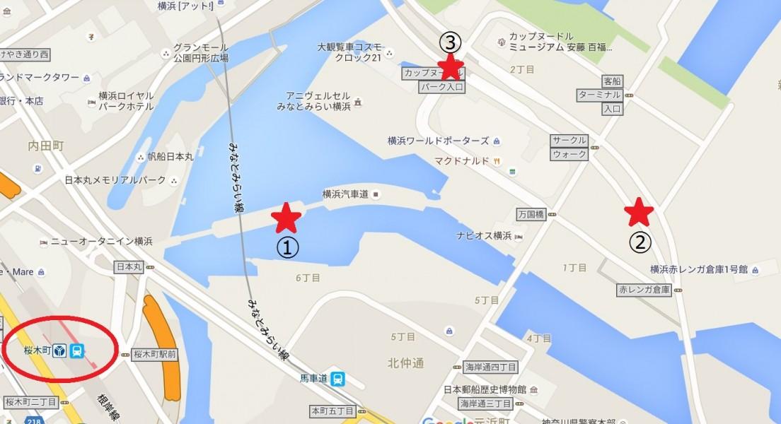 横浜夜景(汽車道・コスモクロック・赤レンガ倉庫)-Japan Nomad (6)