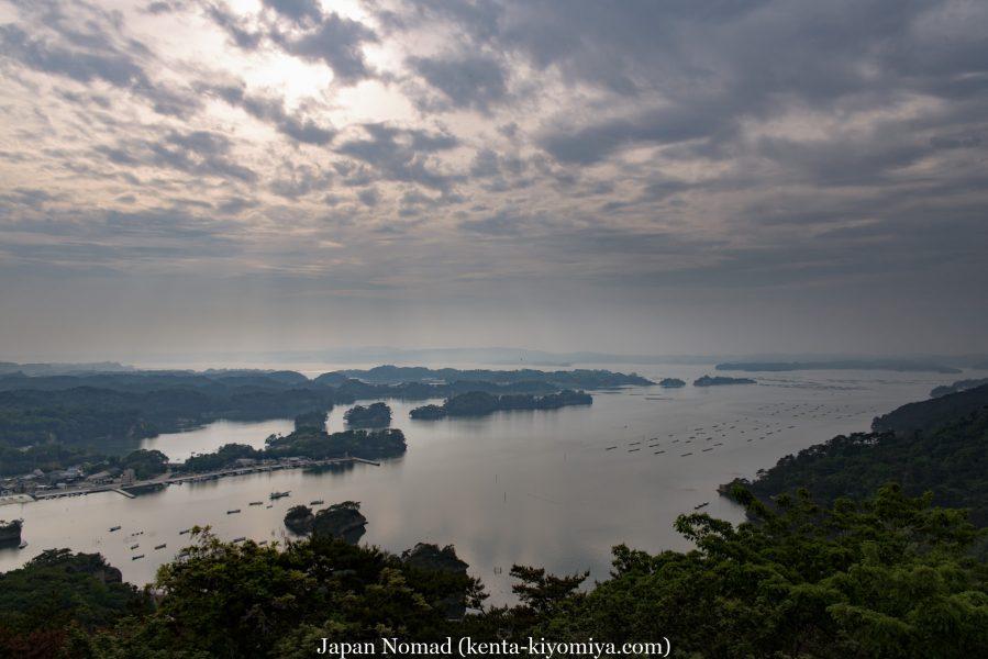 【旅34日目】チャリダーよっちゃんとの出会いと大高森から望む日本三景「松島」の展望