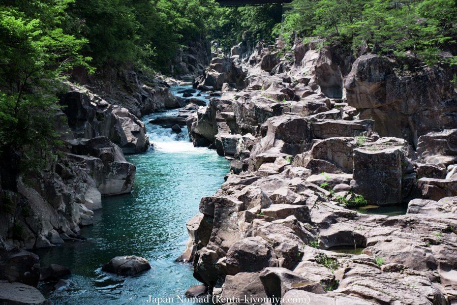 【旅37日目】エメラルドグリーンの川が流れる名勝「厳美渓」