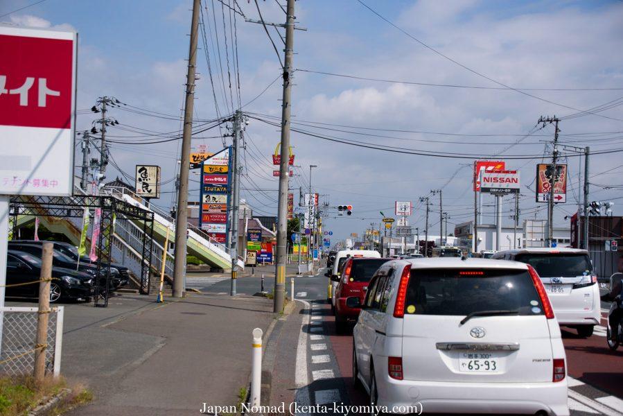自転車日本一周40日目(わんこそば)-Japan Nomad (11)