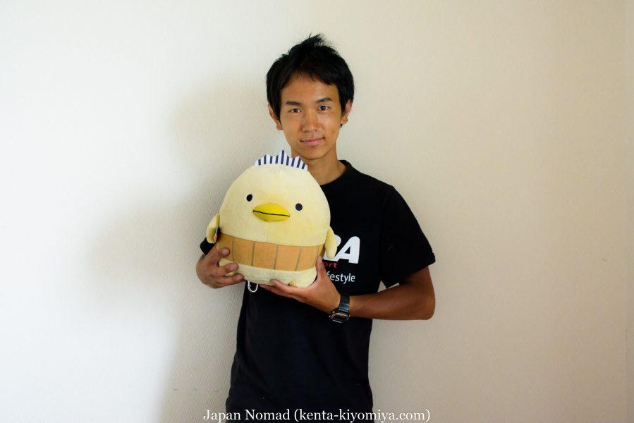 自転車日本一周40日目(わんこそば)-Japan Nomad (20)