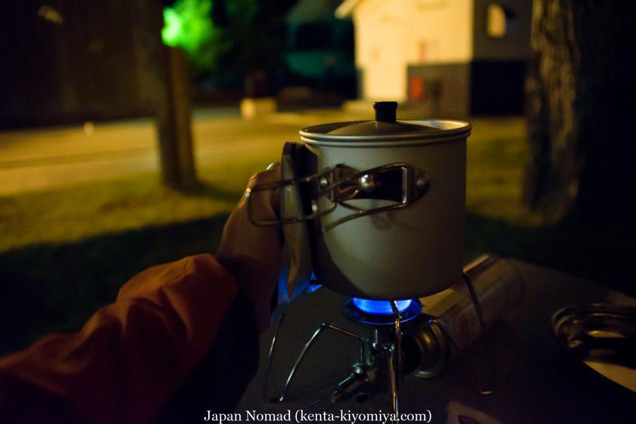 自転車日本一周40日目(わんこそば)-Japan Nomad (5)