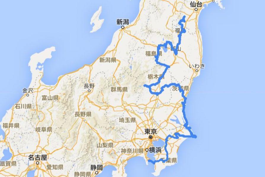 自転車日本一周(30日目データまとめ)Japan Nomad (3)