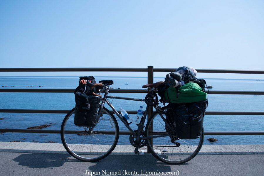 自転車日本一周47日目(北山崎)-Japan Nomad (19)