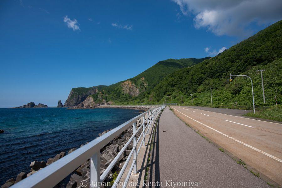 自転車日本一周62日目(神威岬)-Japan Nomad (23)
