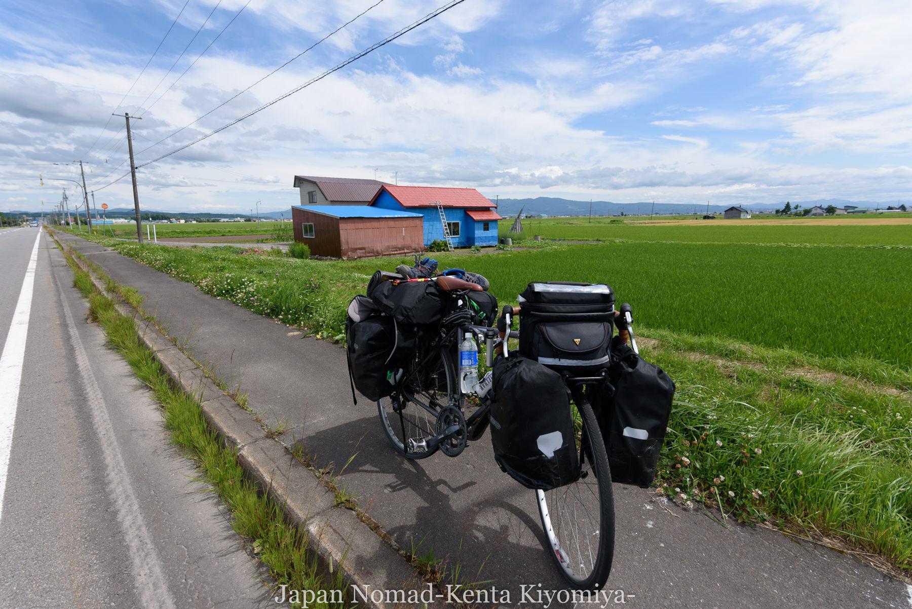自転車日本一周80日目(留萌黄金岬)-Japan Nomad (11)
