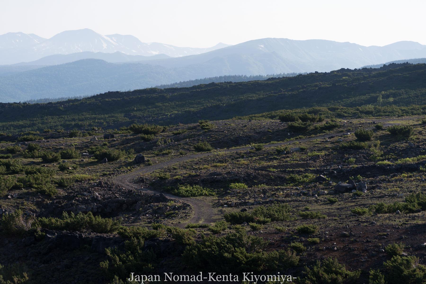 自転車日本一周(十勝岳)-Japan Nomad (12)