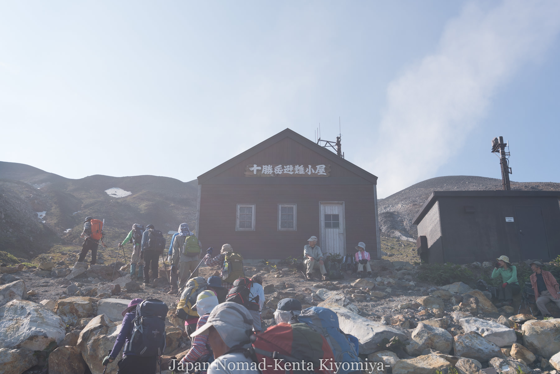 自転車日本一周(十勝岳)-Japan Nomad (19)