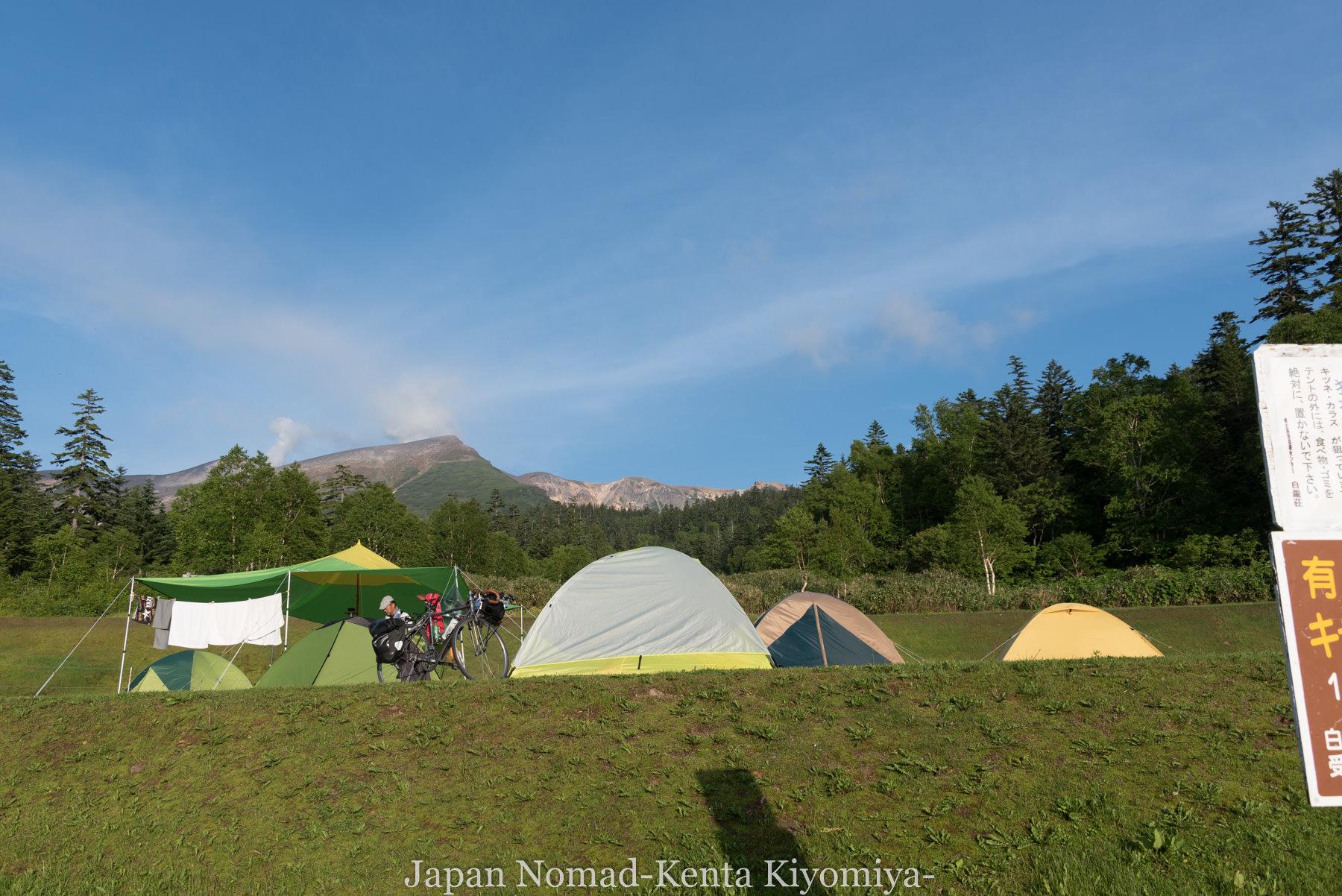 自転車日本一周(十勝岳)-Japan Nomad (54)