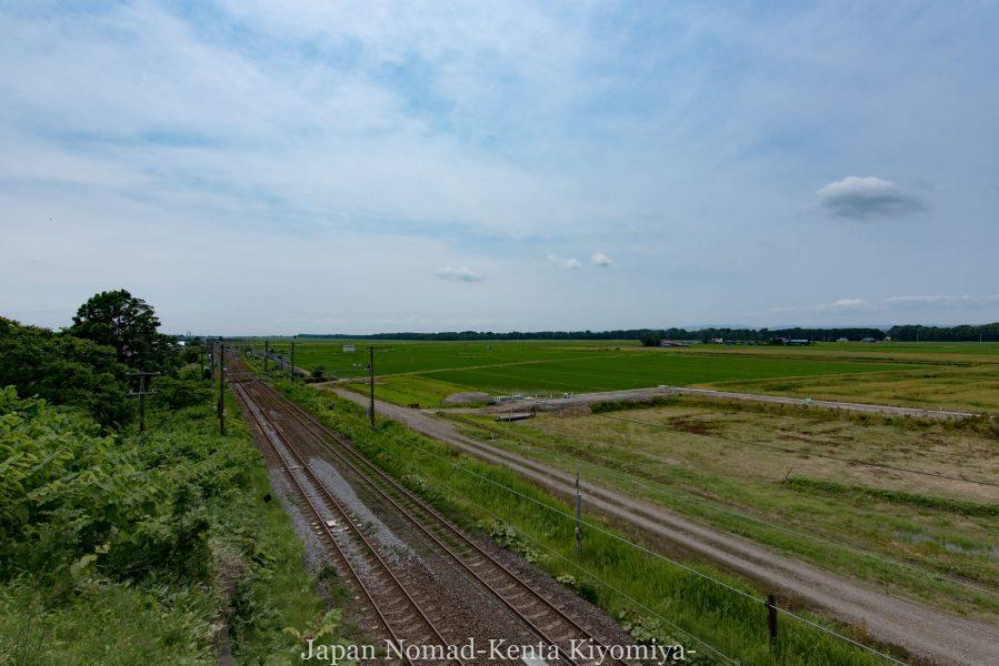 自転車日本一周70日目(日本一長い直線)-Japan Nomad (16)