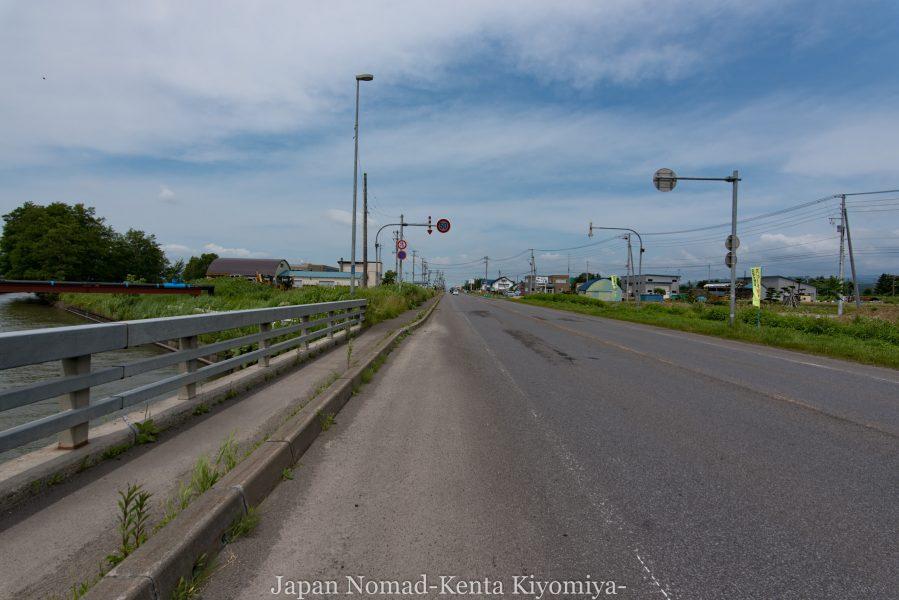 自転車日本一周70日目(日本一長い直線)-Japan Nomad (18)