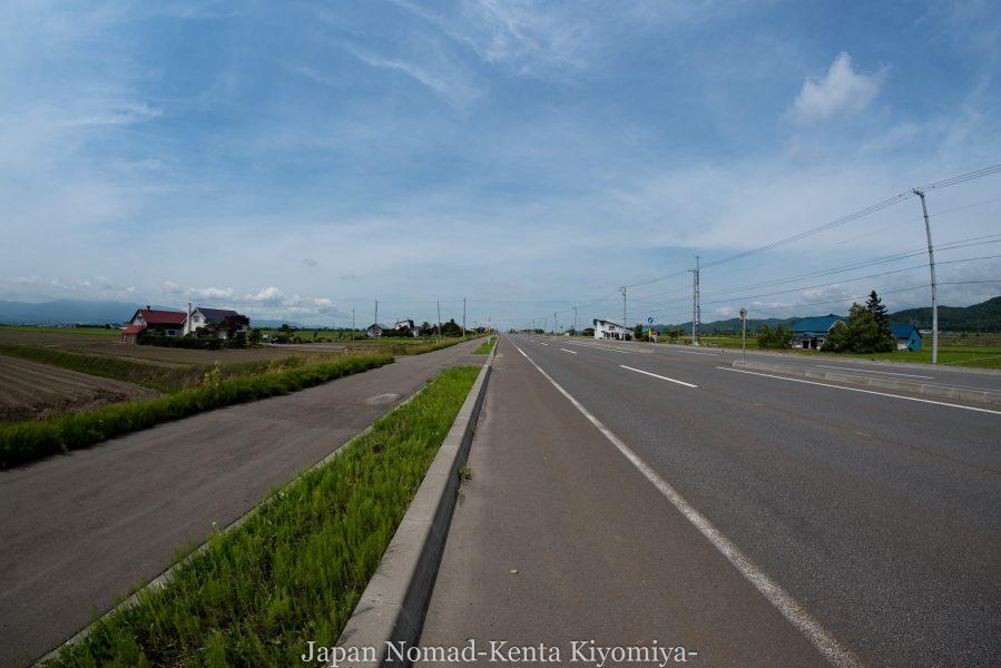 自転車日本一周70日目(日本一長い直線)-Japan Nomad (23)