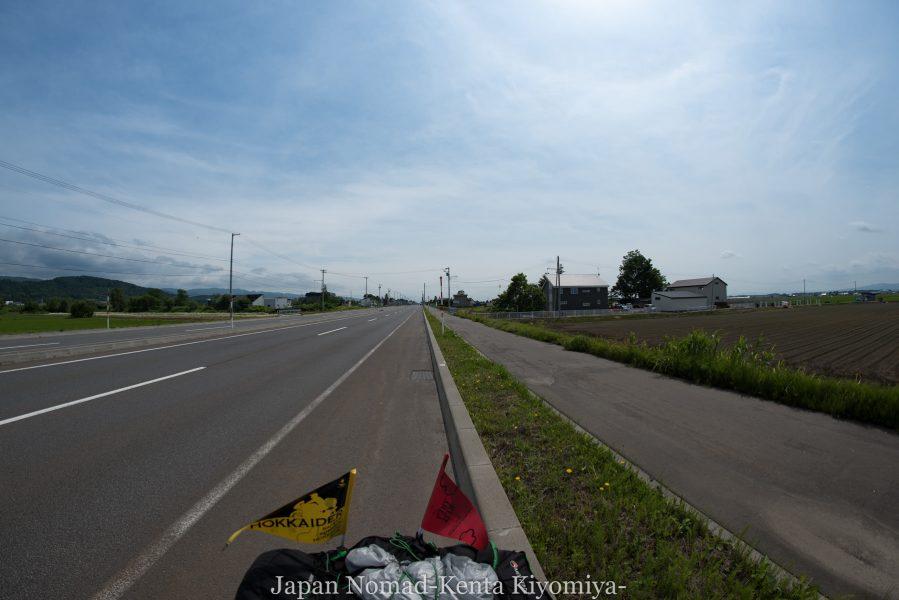 自転車日本一周70日目(日本一長い直線)-Japan Nomad (24)