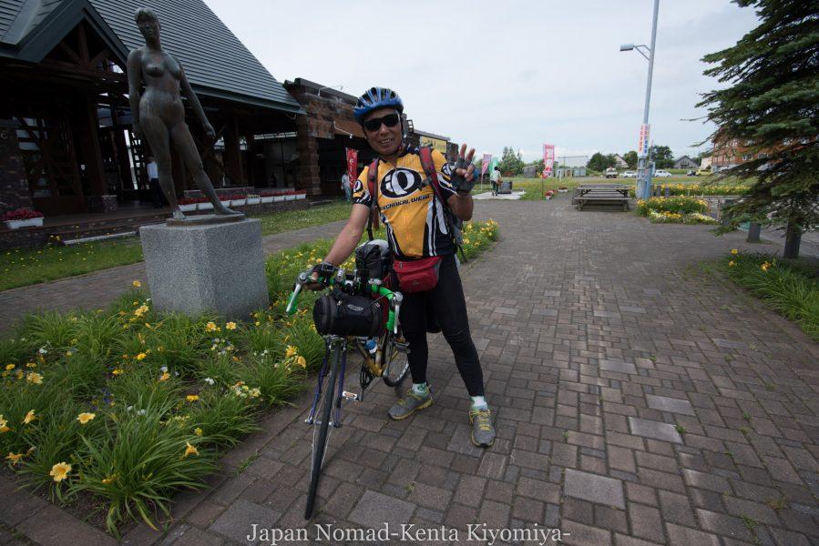自転車日本一周70日目(日本一長い直線)-Japan Nomad (25)