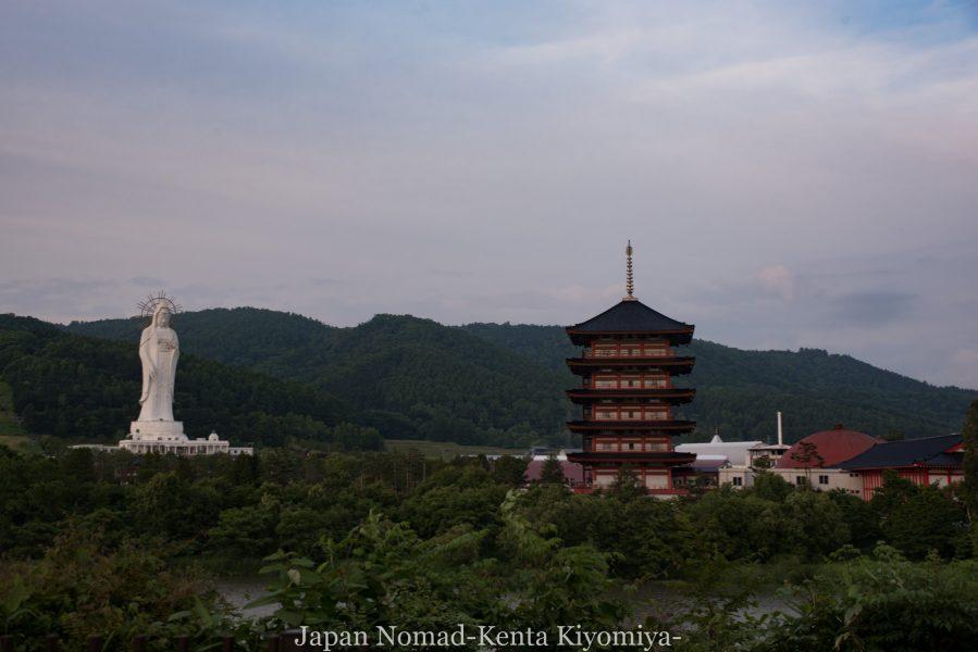自転車日本一周70日目(日本一長い直線)-Japan Nomad (38)