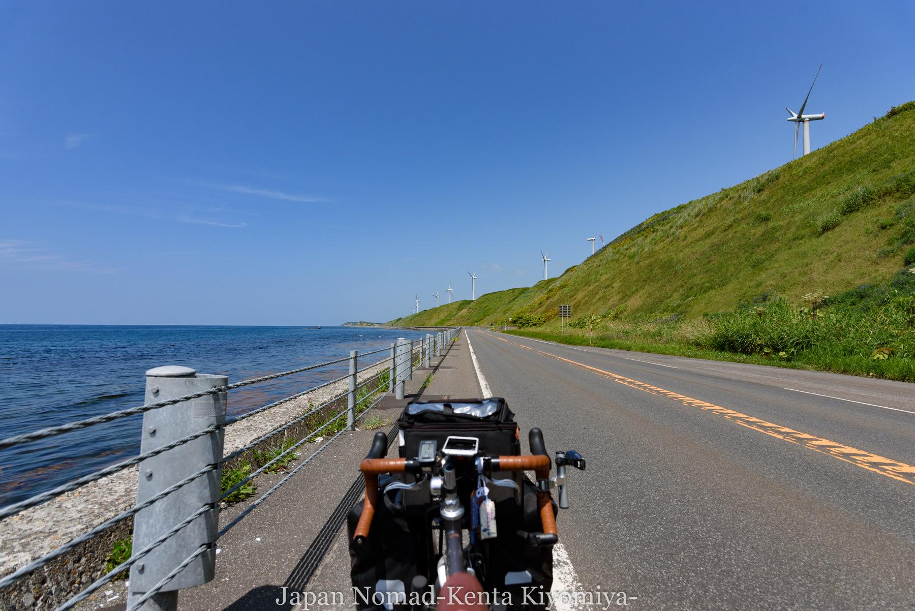 自転車日本一周81日目(オロロンライン)-Japan Nomad (15)