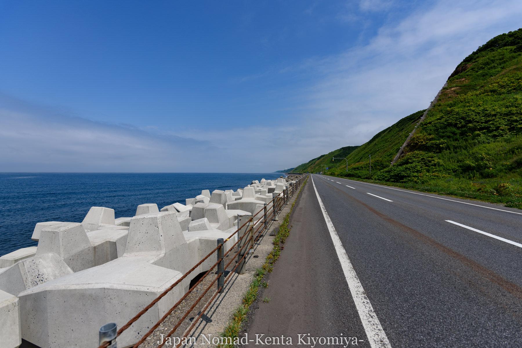 自転車日本一周81日目(オロロンライン)-Japan Nomad (4)
