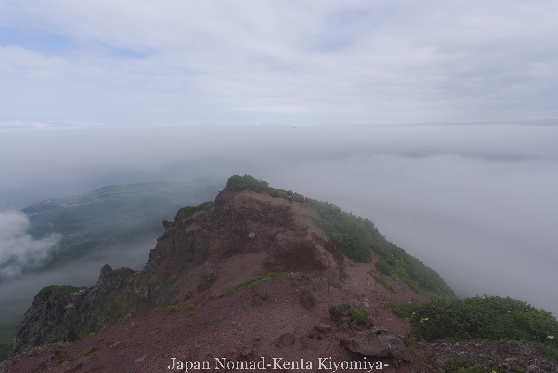 自転車日本一周86日目(利尻山)-Japan Nomad (33)