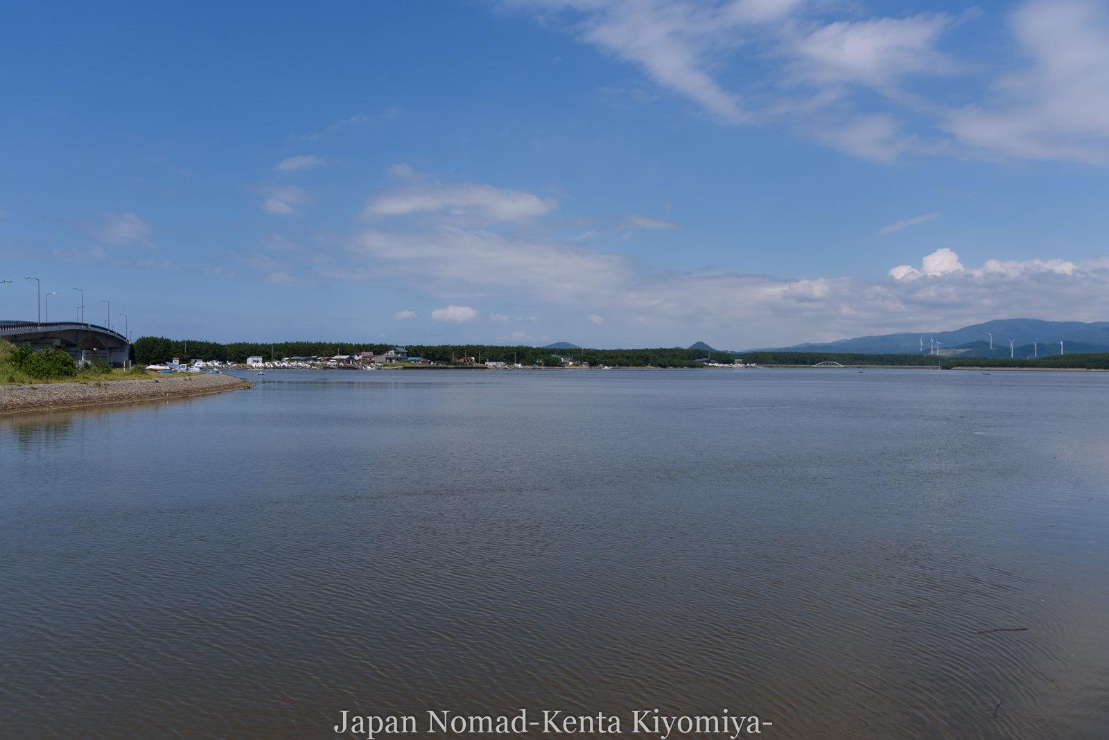 自転車日本一周(十三湖、しじみラーメン)-Japan Nomad (21)