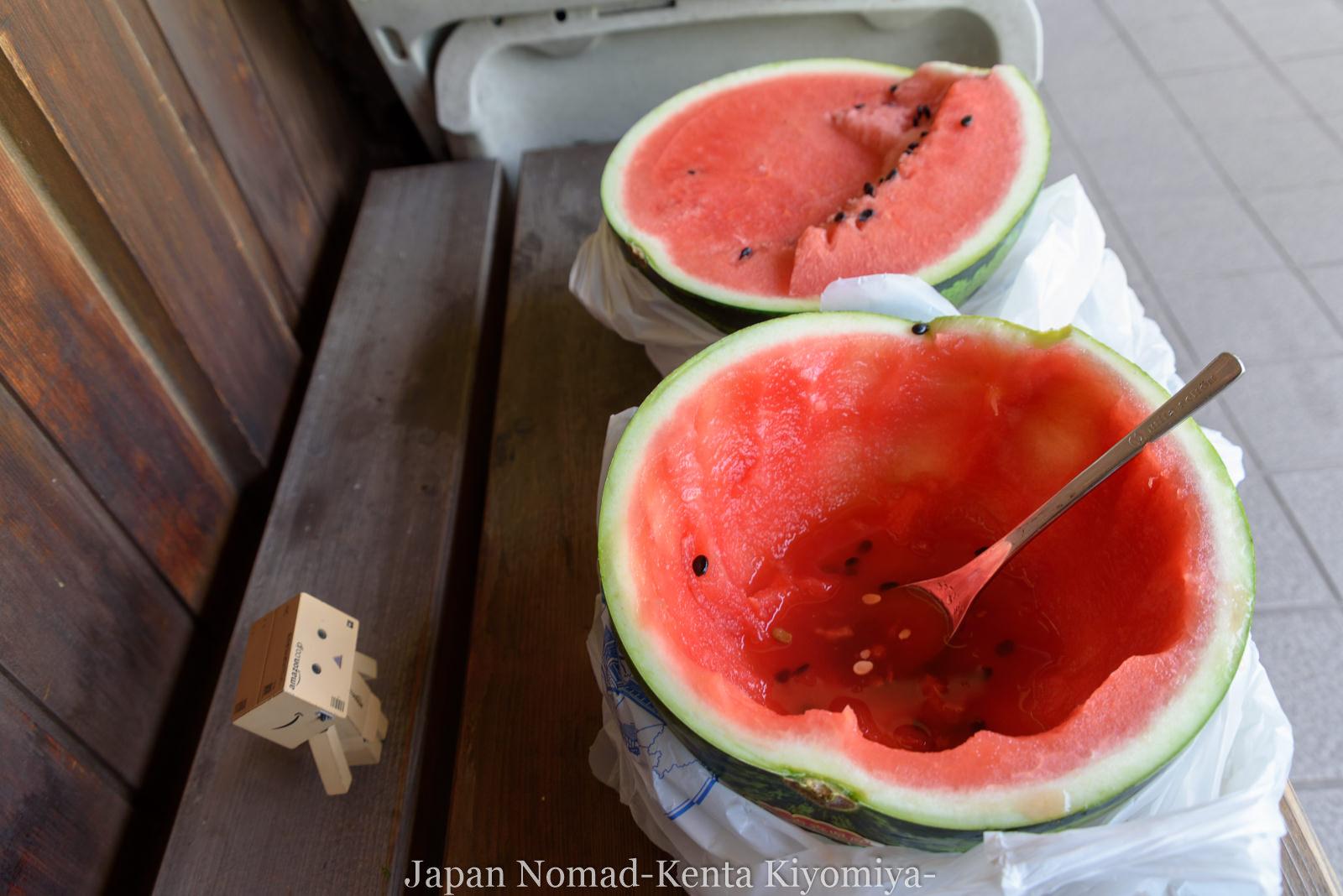 自転車日本一周(十三湖、しじみラーメン)-Japan Nomad (34)