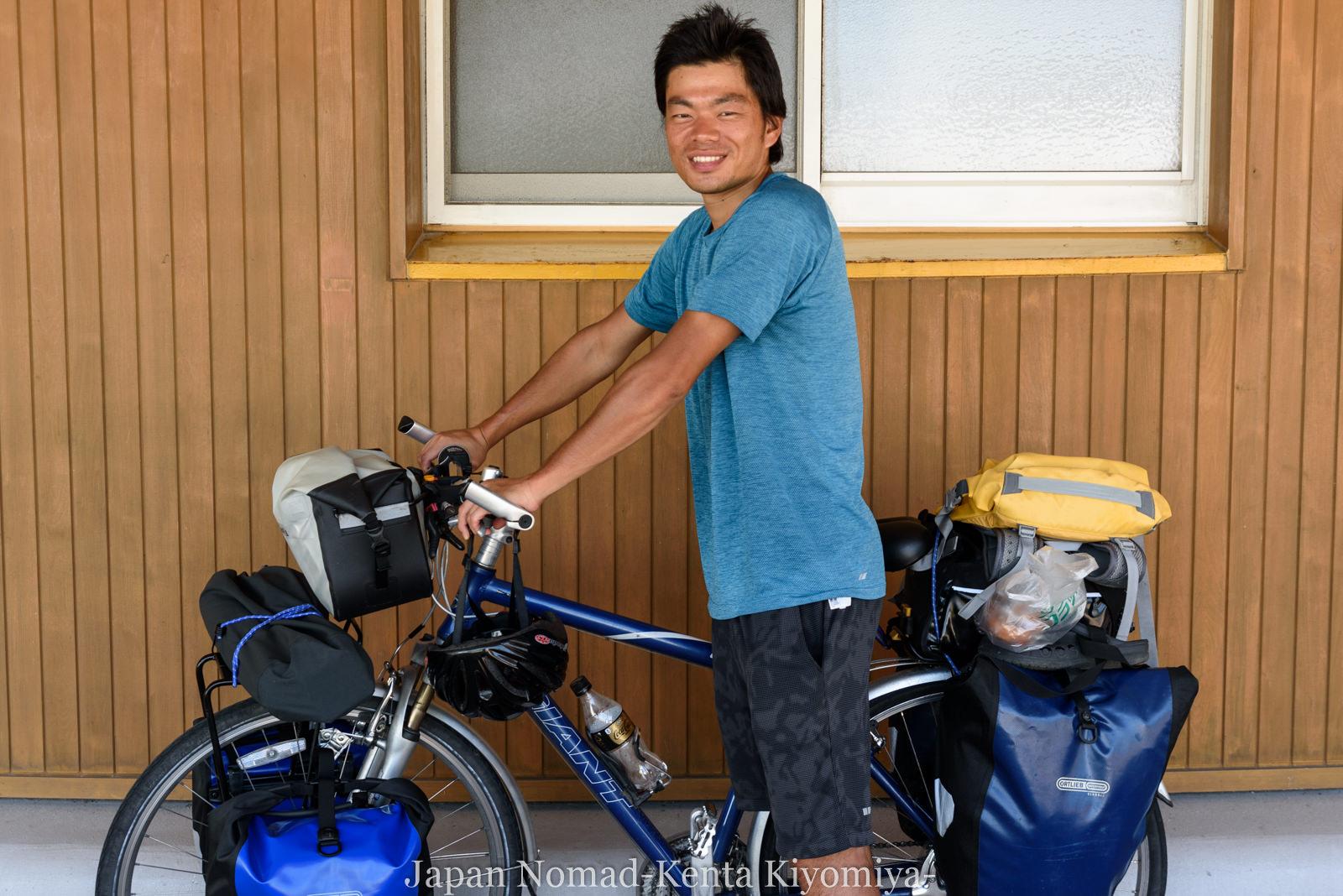 自転車日本一周(十三湖、しじみラーメン)-Japan Nomad (25)