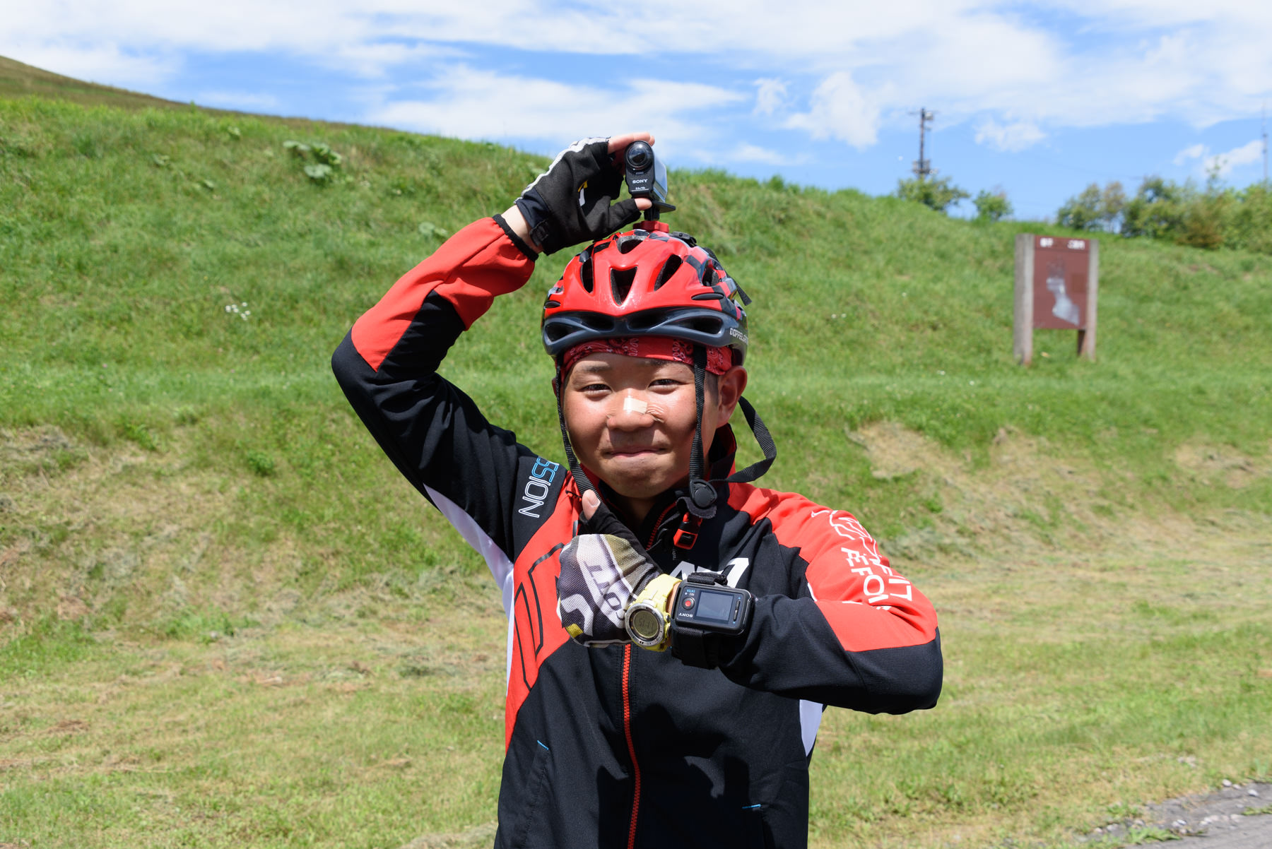 自転車日本一周101日目(ナイタイ高原牧場)-Japan Nomad (30)