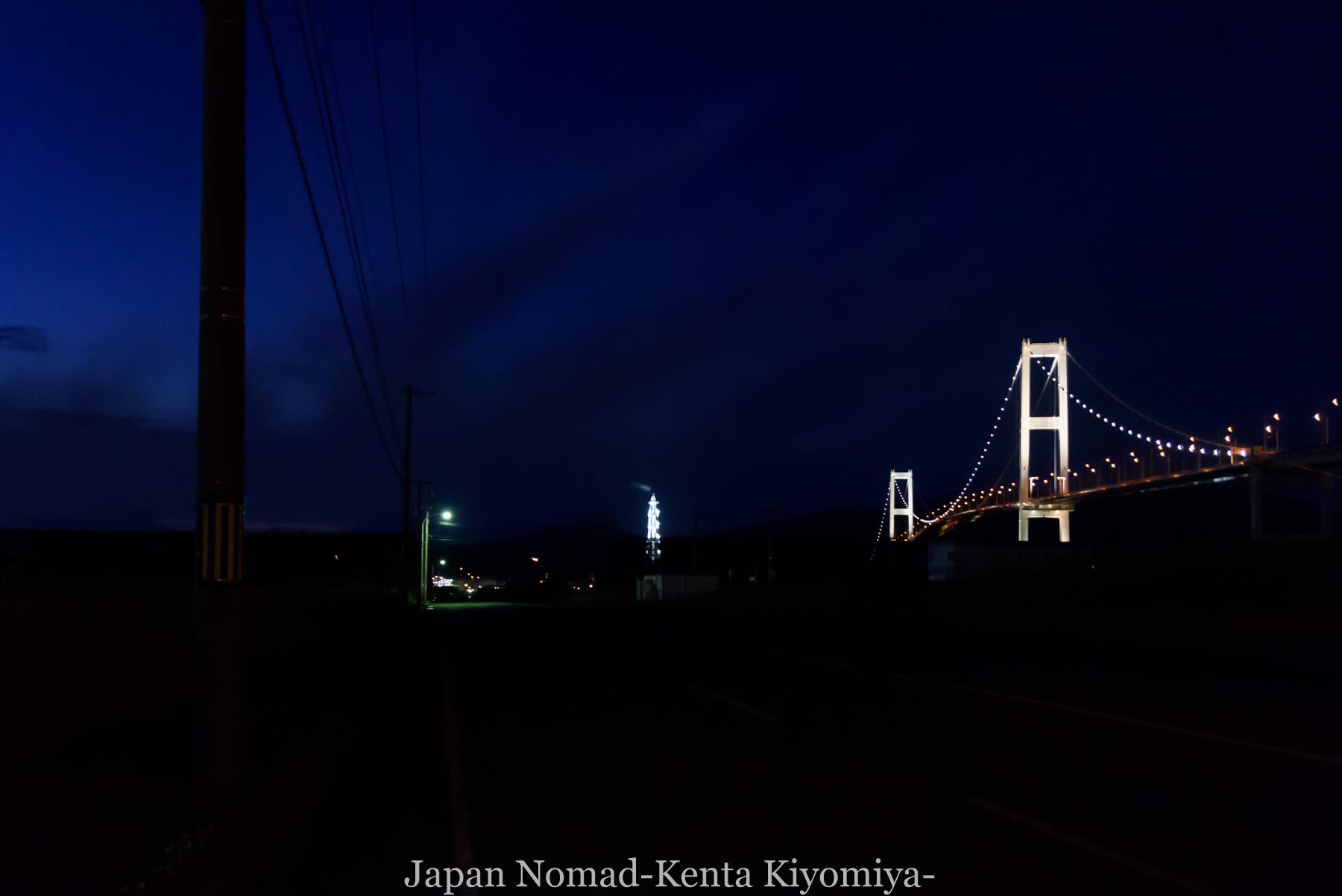 自転車日本一周114日目(地球岬、室蘭工場夜景)-Japan Nomad (19)