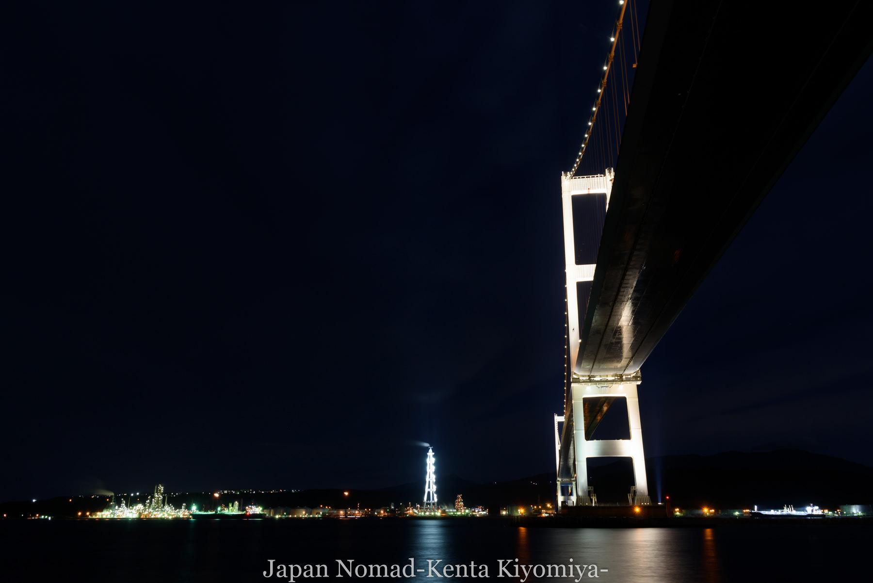 自転車日本一周114日目(地球岬、室蘭工場夜景)-Japan Nomad (21)
