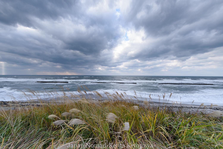 【旅129日目】荒れる海ときれいな光芒を見ながらまったり自転車旅再開