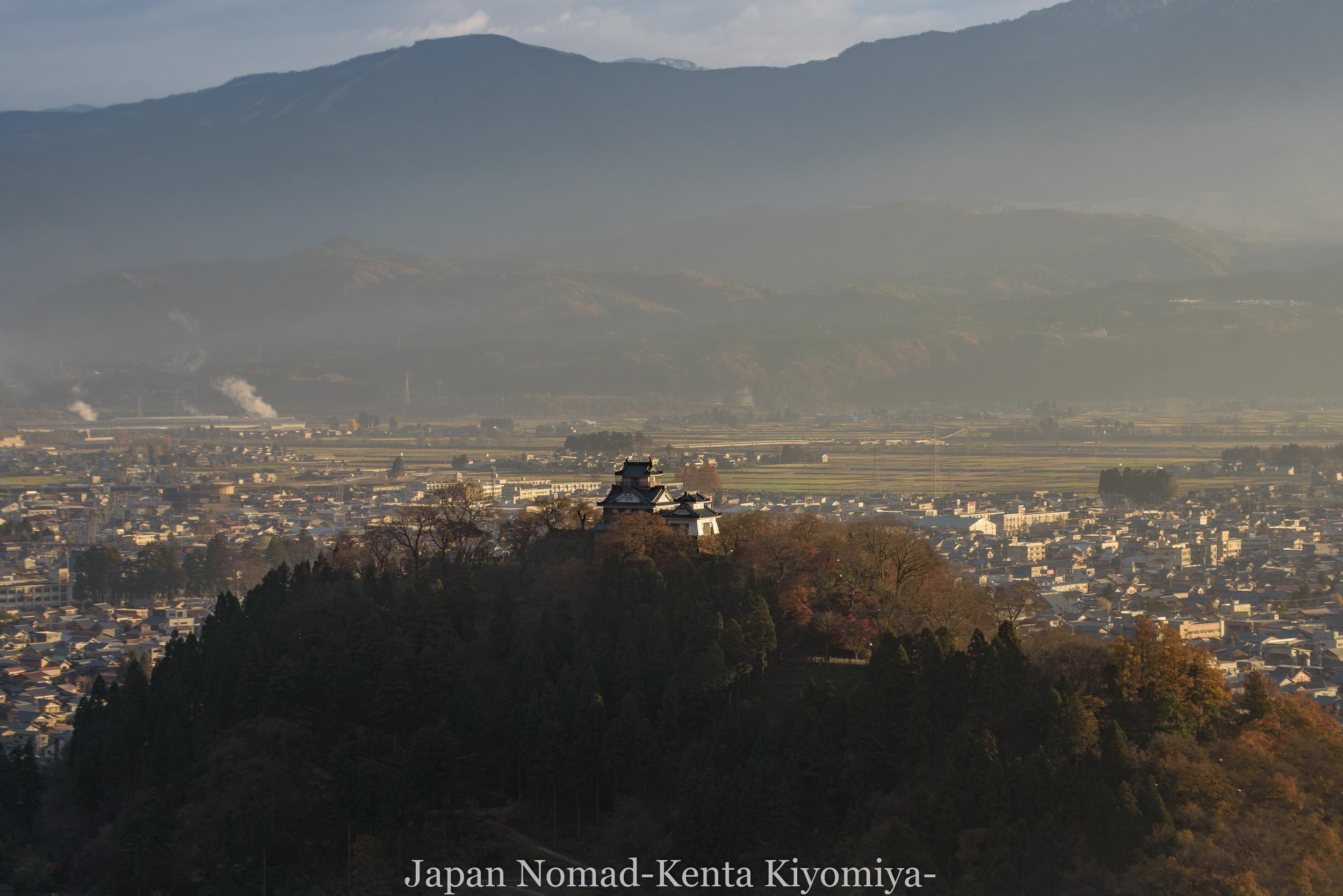 【旅152日目】越前大野城で天空の城を狙ったが雲海が出ずに惨敗だったよ