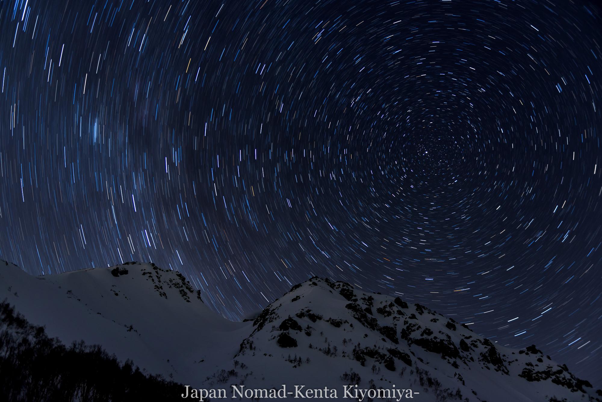 【北アルプス】焼岳 雪山登山(後編)~焼岳と満天の星空~