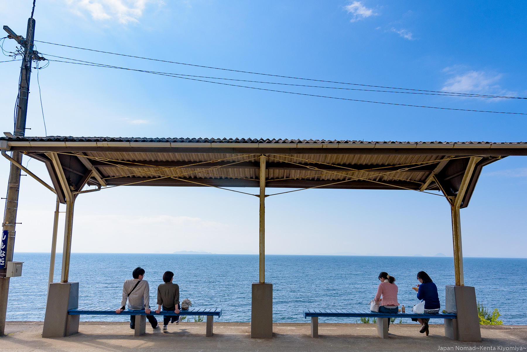 【旅251日目】のどかな絶景、日本一海に近い駅「下灘駅」