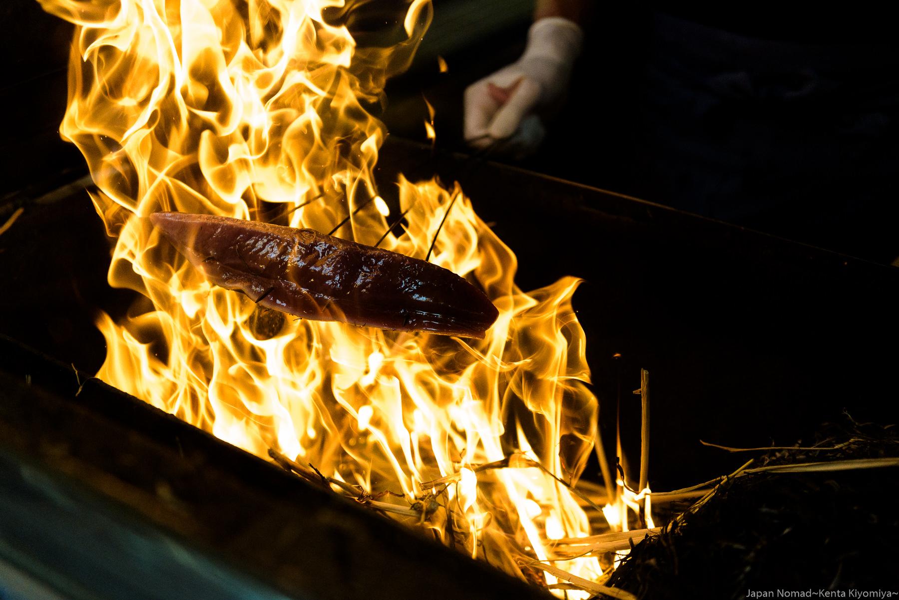 【旅254日目】カツオの本場、高知県黒潮町で「藁焼きカツオのたたき」を食す